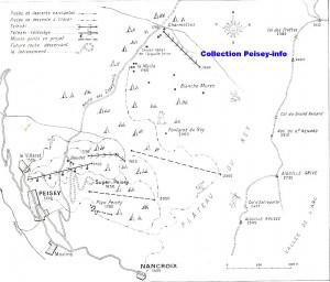 Plan Pistes Peisey 1962