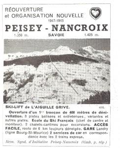 Pub pour Peisey-Nancroix 1947