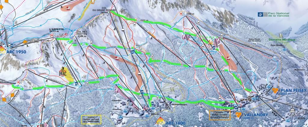 Retours à skis à Peisey-Vallandry