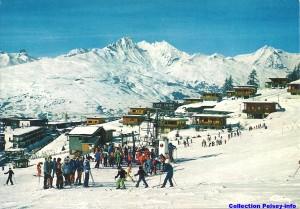 Front de neige de Peisey 1970
