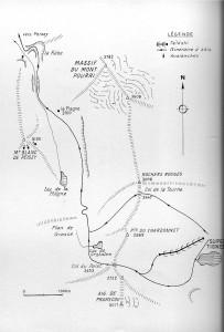 Itinéraires à skis La Plagne 1964