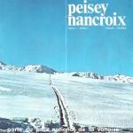 plan des pistes Peisey-Vallandry 1972 P1