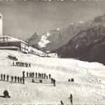Cours de ski église Peisey1960