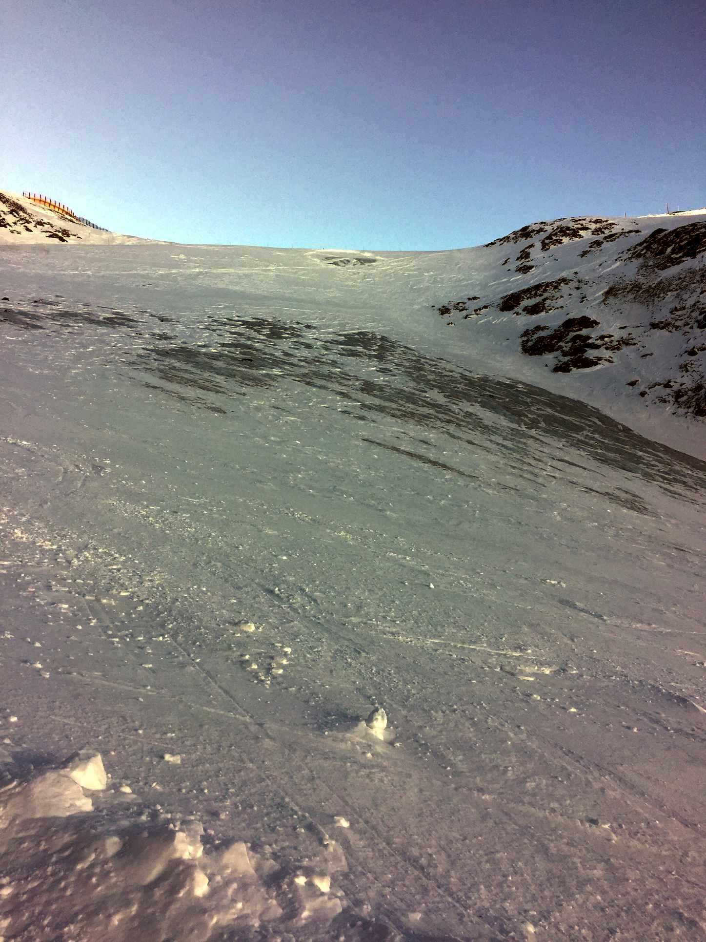 Le glacier de l'Aiguille Rouge en piteux état