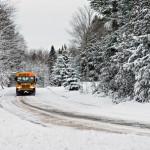 bus en hiver