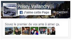 Page Facebook Peisey-Vallandry