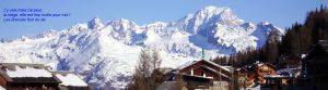 Photo de Peisey-Vallandry et le Mont-Blanc