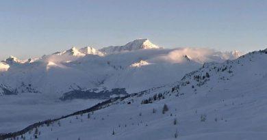 Le Mont-Blanc, vue du Télésiège Grizzly
