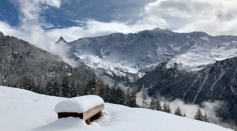 Premières chutes de neige à Peisey Vallandry, weekend du 25 au 27 septembre 2020